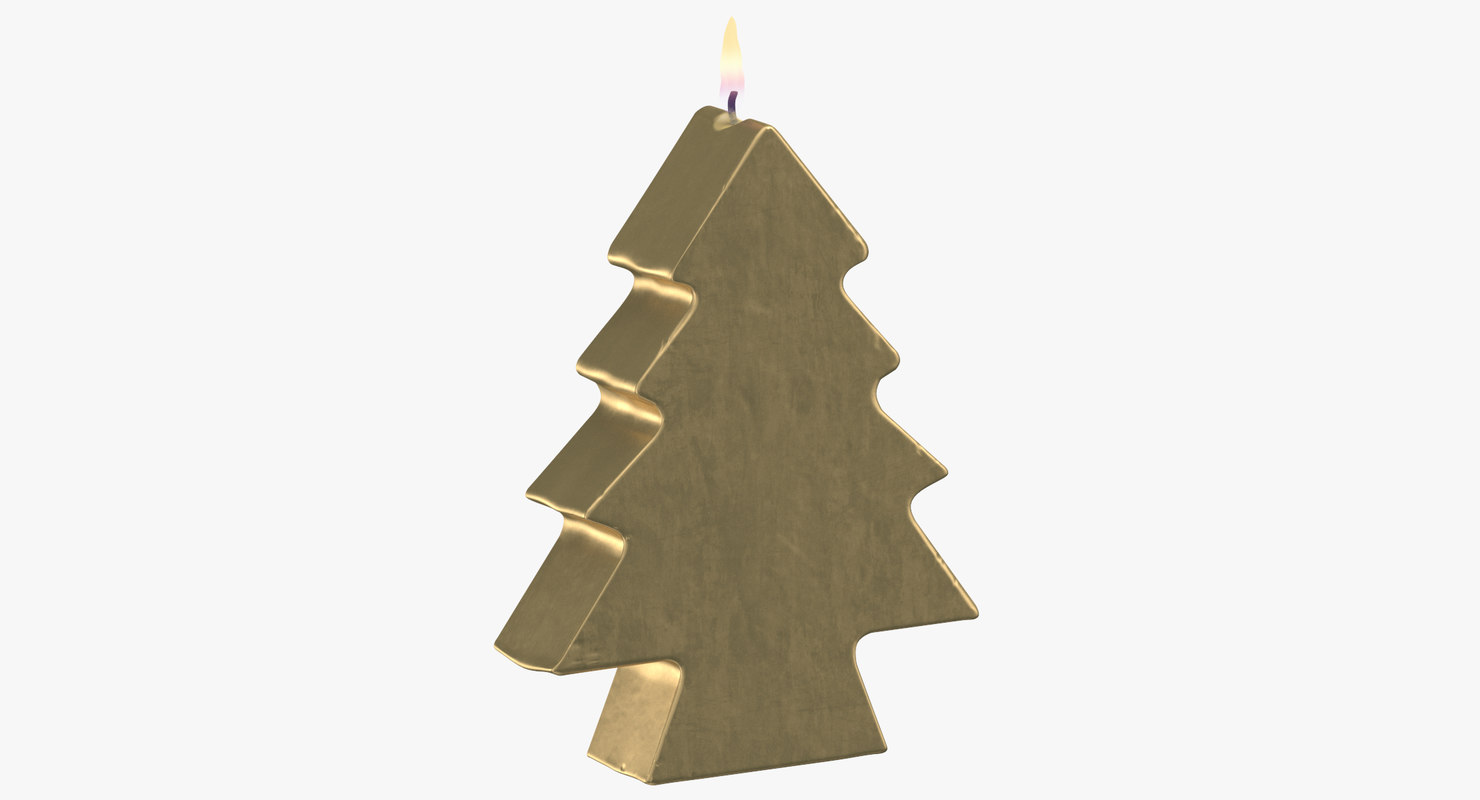 3D tree shaped candles 01