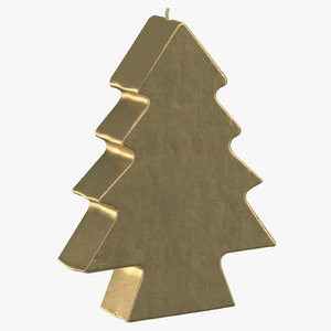 tree shaped candles 01 3D model