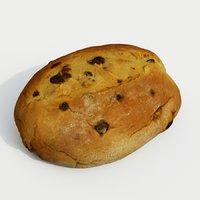 currant loaf bread 3D model