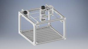 3D model diy cnc