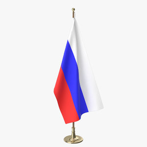 russia office flag 3D
