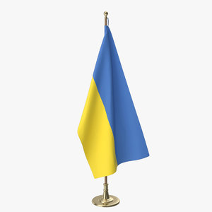 ukraine office flag 3D model
