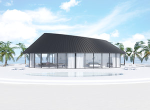 3D interior design scene house model