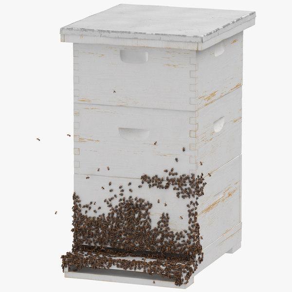 bee hive 02 3D model