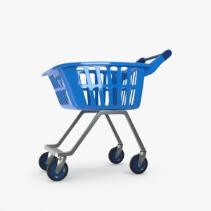 3D kids cart shop model