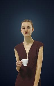 3D barbara cup model