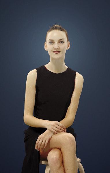 barbara female caucasian 3D model