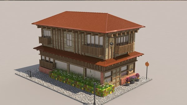 japanese cafe 3D