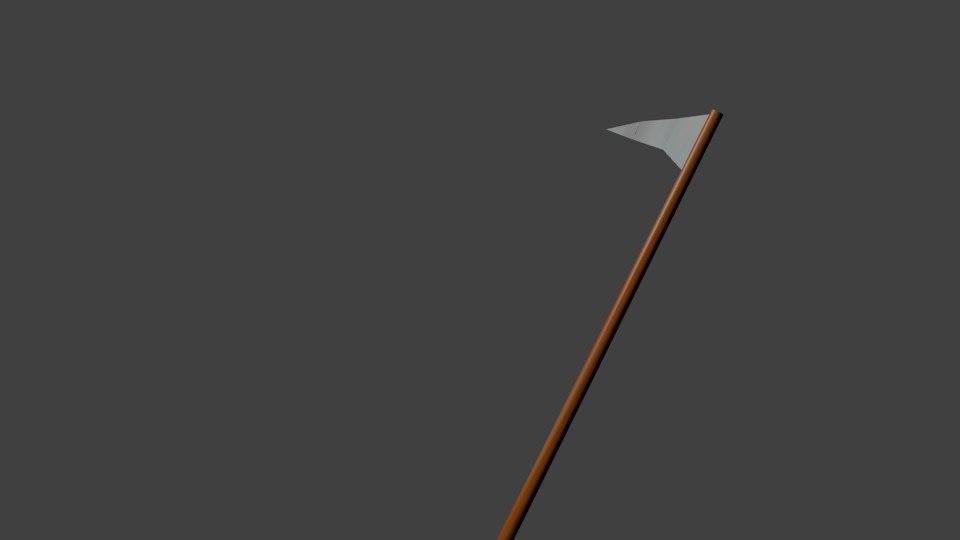 3D model scythe weapon
