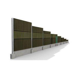 3D noise barrier highways roads