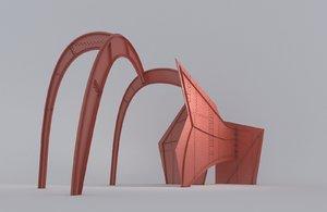 3D abstract sculpture calder model
