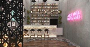 3D bottles furniture