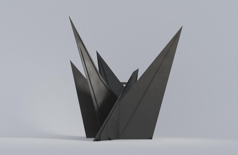 abstract sculpture calder 3D model