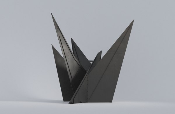 abstract sculpture calder 3D model
