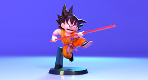 3D animation dragon ball son goku