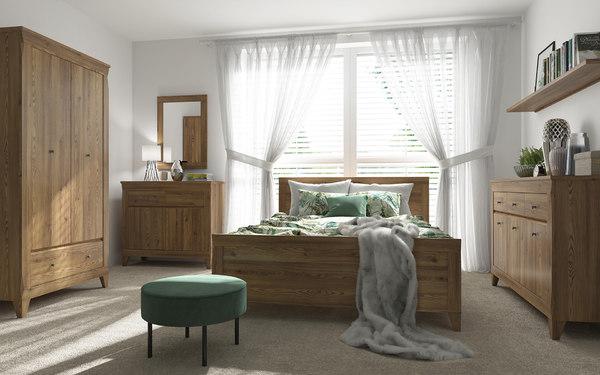 bedroom classic bed 3D model