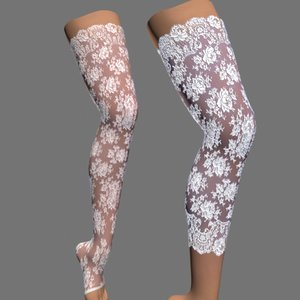 sexy female stockings model