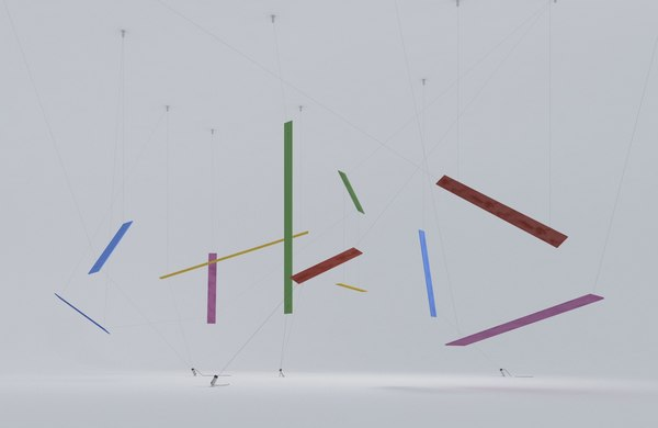 3D abstract saphiro model