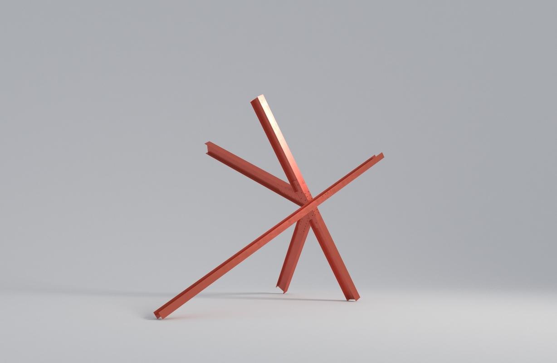 abstract sculpture di suvero model