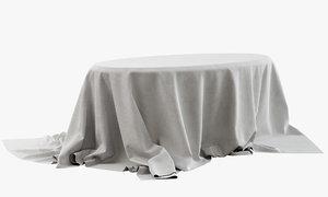3D table drapery