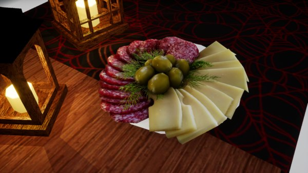 norvedem cheese meat 3D