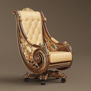 bisini armchair 3D model