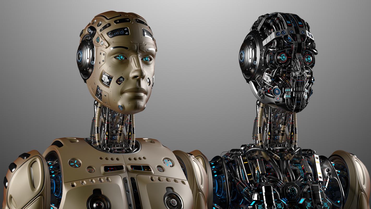 3D model robot man
