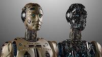 Futuristic Robot Man 3D Model