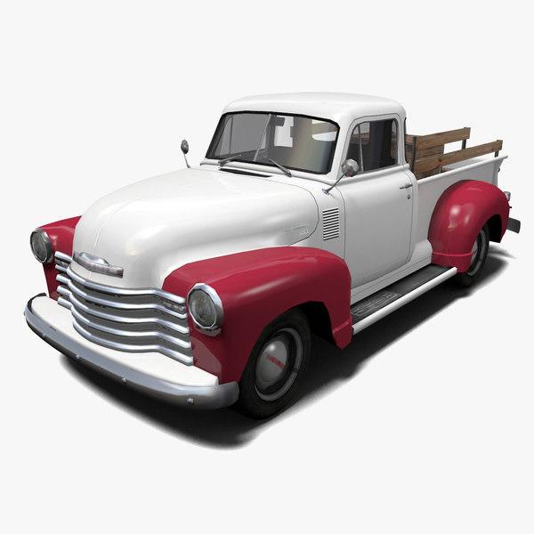 3D pickup truck car