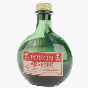 bottle poison 3D model