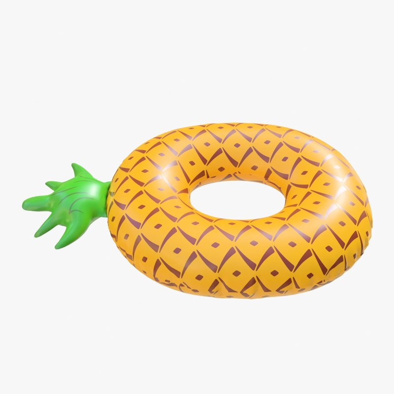 3D realistic float ring pineapple