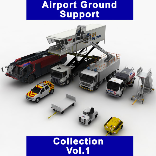 3D model airport ground support vol 1