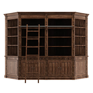 bookcase library 3D