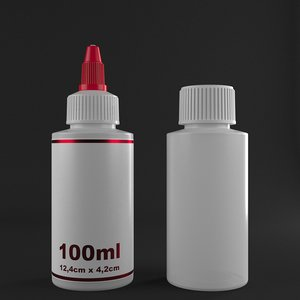 3D bottle 100ml model