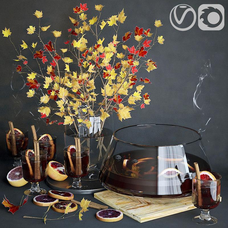 decorative set mulled wine model