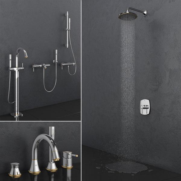 Bath Shower Faucets Grohe Model Turbosquid 1350723