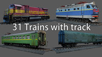 Train Collection - Photorealistic Low-poly