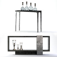 3D linea console table