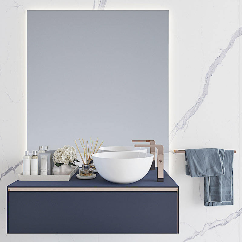 3D noken lounge basin 1200mm model