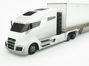 nikola truck trailer 3D model