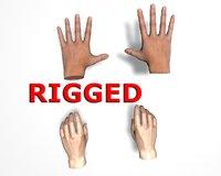 4 hand rigged