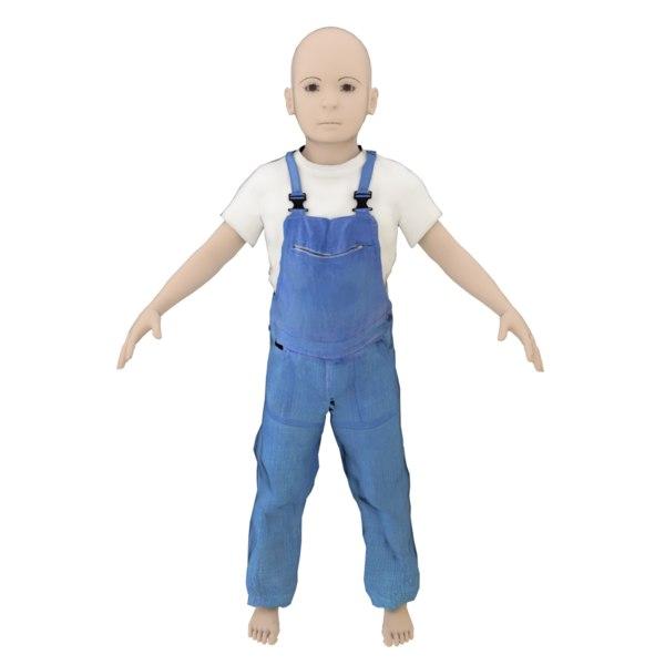 3D blender boy years old model