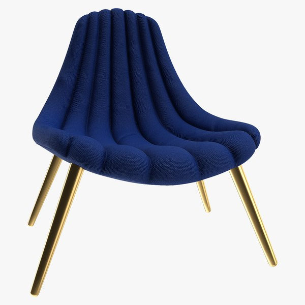 realistic brigitte navy lounge chair 3D model