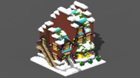 3D voxel xmas house