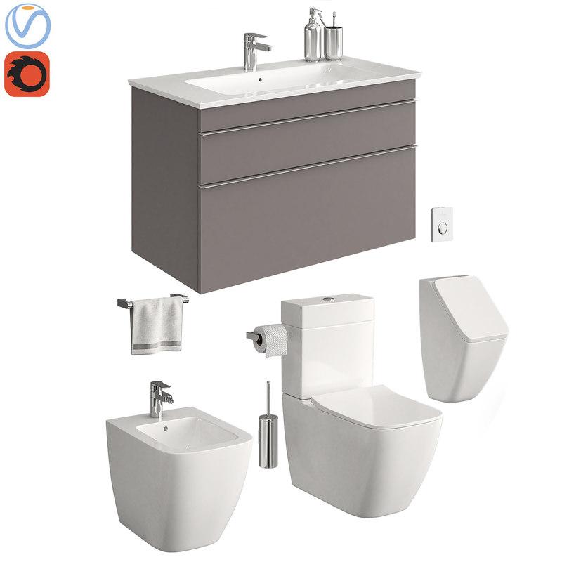 toilet villeroy boch venticello 3D model