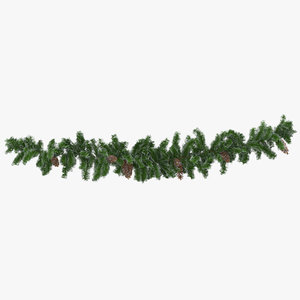 3D garland frosted short