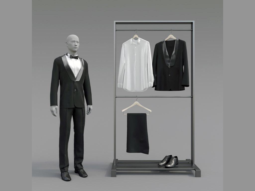 classic tuxedo 3D model
