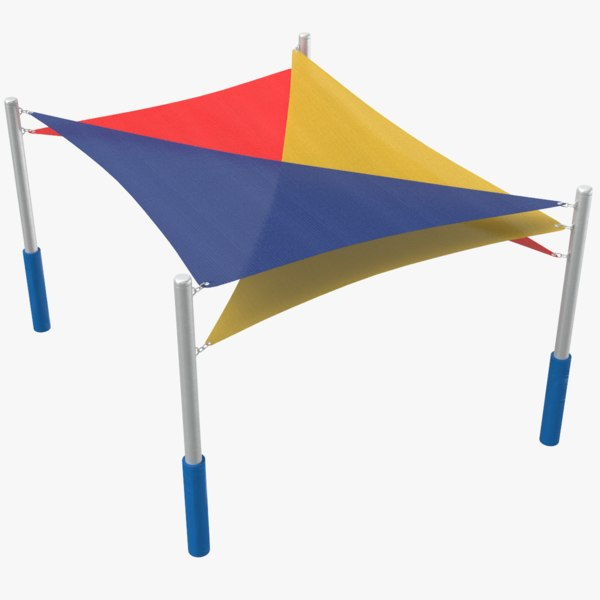 3D playground tent