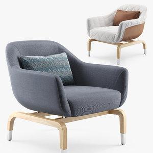 outdoor armchair smania figi 3D model