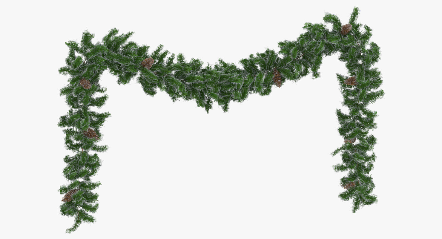 3D garland frosted long model